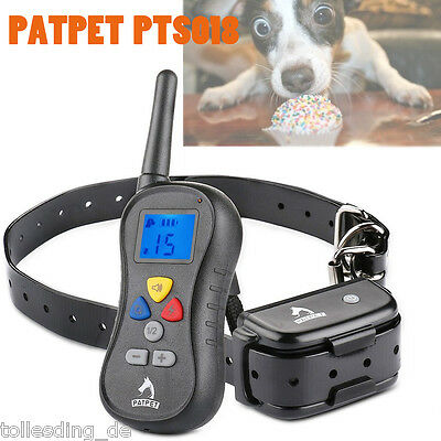 Electric Trainer Collar Waterproof Pets Dog Shock Training Collar Remote Control