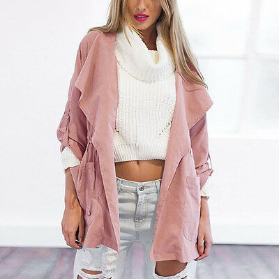 Women's Warm Coat Fashion Hooded Long Jacket Trench Windbreaker Parka Outwear