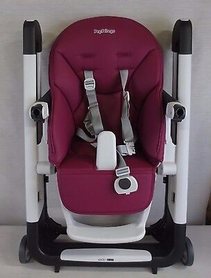 Peg Perego Siesta High Chair - Berry
