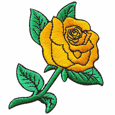 White Rose Tattoo Rider Biker Motorcycle Rockabilly Flower Iron-On Patches #A038