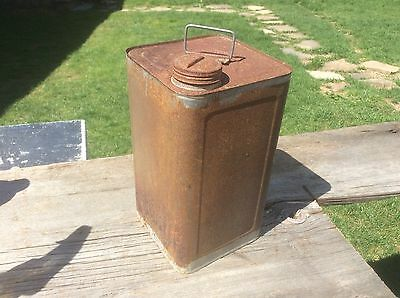 Shabby Rustic Maple Syrup Metal Can , Country Farm Sugar Shak