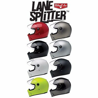 *Fast Shipping* BILTWELL LANE SPLITTER MOTORCYCLE HELMET (Black, Bronze, Red...)