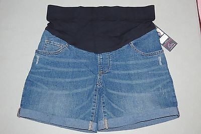 NEW Maternity Shorts SMALL Denim Bottoms Oh Baby Motherhood NWT Mid Belly S 4 6