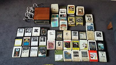 Vintage 8 Track Cassette / Tape Player & 56 x 8 Track Cassettes / Tapes