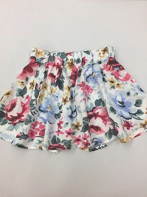 NWOT Old Navy Toddler Girl Floral Skirt 5 XS White Spring Easter