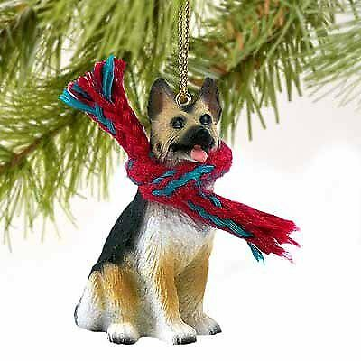Conversation Concepts German Shepherd Miniature Dog Ornament - Tan & Black