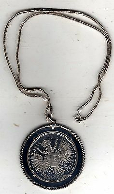 france napoleone medd ,silver on silver chain ,26 to 27 grams chain and medd