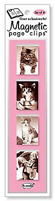 Yarn Kitten Mini Photo Magnetic Page Clips Set of 4 By Re-marks