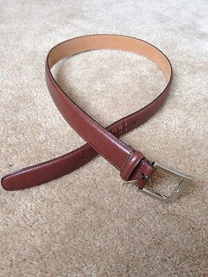 Men's Brown Bonded Leather Belt 34