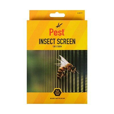 Large Fly Screen Window Net Wasp Bee Insect Bug Mosquito Fixing Tape Cut To Size