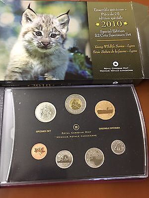 2010 Special Edition $2 Coin Specimen Canada Set Lynx Young Wildlife