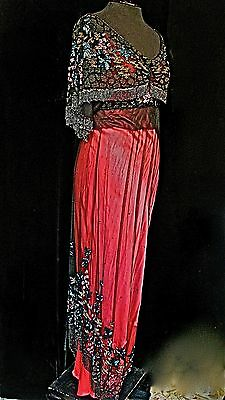 Magnificent Antique TITANIC ERA Restored Reworked Heavily Beaded Cape Top GOWN