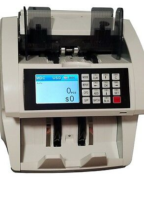NEW!! SD-800 Single Pocket Currency Counter Discriminator W/counterfeit.
