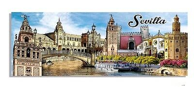FRIDGE MAGNET Seville SOUVENIR travel monument la giralda plaza spain tourist