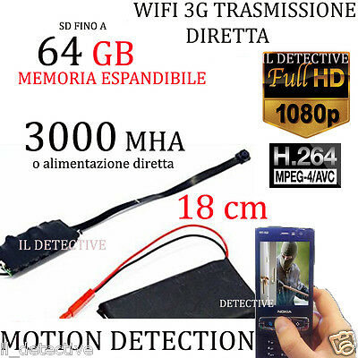 Spy Camera Spia WIFI HD SD 64GB TELECAMERA MICRO NASCOSTA MICROCAMERA