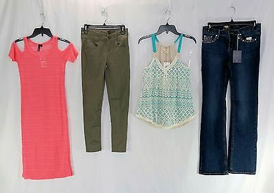 Wholesale Lot of 75 High End Juniors Apparel Clothing Manifested Brand New