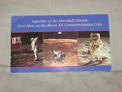 1989 $5.00 Commemorative Coin, First Men On The Moon, Marshall Islands