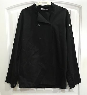 Chef Works Culinary Jacket - Size M - Long Sleeve - Black