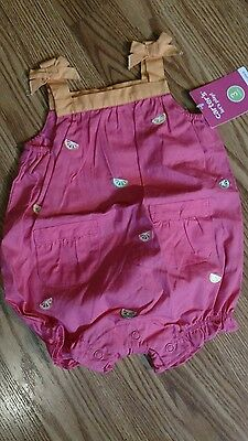 Girls Carter's sleeveless one piece romper outfit 3 mo NWT's