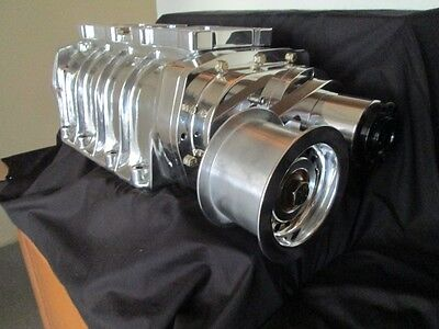 New complete Blower kit 671 show polished 350 Chevy 327 sbc Supercharger Supply