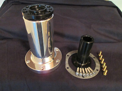 """New 7"""" blower Snout w/Coupler Polished hemi nitro supercharger supply drag"""