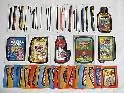 Lot of 50x 2004-2010 Topps Wacky Packages Cards + 22x 2011 Stickers