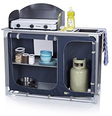CamPart Travel Camping Outdoor Kitchen Sink With Windshield