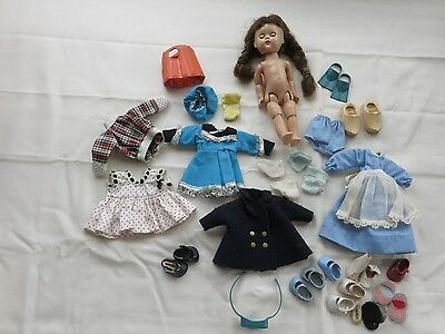Vintage Vogue Ginny Doll Lot Clothes Shoes Ginny Doll Brunette