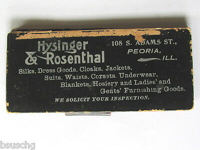 Antique Notebook Hysinger & Rosenthal Peoria Ill Dress Goods Cloaks Suits