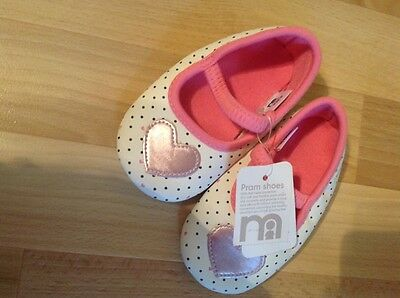 Mothercare Baby Girl Size UK 3 Pram Shoes