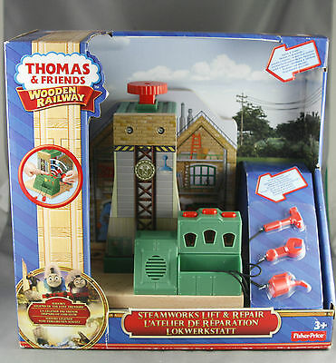 Thomas and Friends Wooden Railway Steam Works Lift and Repair Set