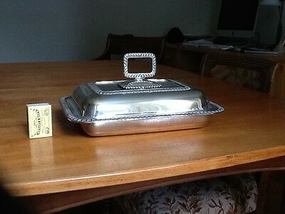 Silver-plated Entree Dish With Cover. Vintage.