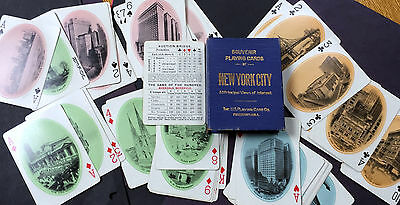 1900s NEW YORK CITY SOUVENIR PLAYING CARDS IN SLIP CASE BOX