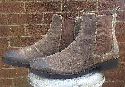 Gordon Rush Leather Russell Ankle Boots Brown Chelsea Men's Size 9.5 9 1/2 $395