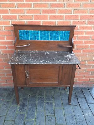 Edwardian Marble Top Wash Stand
