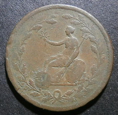 Essex BCC halfpenny DOUBLE REVERSE - pierced & plugged extremely rare RRR W.634