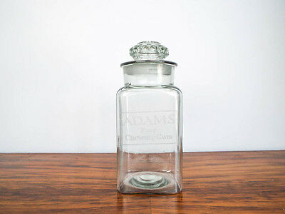 Vintage 1940s Advertising Adams Pure Chewing Gum Glass Jar Country General Store
