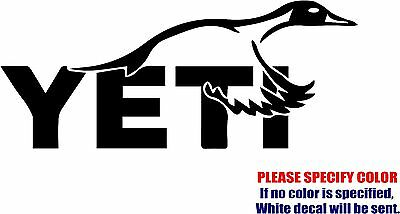 """YETI Pintail Duck Hunting Graphic Die Cut decal sticker Car Truck Boat 12"""""""