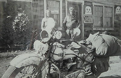"Vintage 1942 Motorcycle Poster.""WHITE OWL CIGARS"""