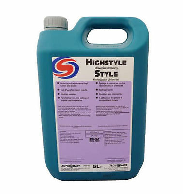 Autosmart High Style Tyre Shine Silicone Universal Dressing 5L Free Delivery