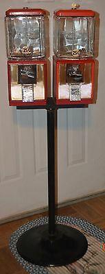 Vintage Northwestern Double Head Gumball/vending Machine 25 Cent