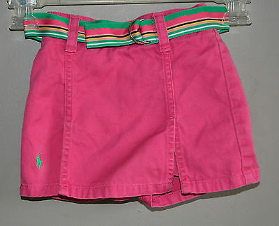 Girls Size 2T Ralph Lauren Toddler Skirt Skort Shorts Pink