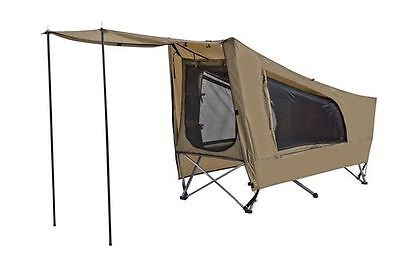 NEW Easy Fold Camp Stretcher Tent with fly, Single