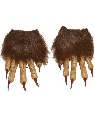 Mens Werewolf Latex Claw Hands Gloves Costume Accessory