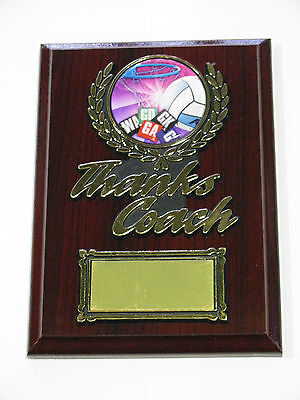 Netball Thanks Coach Wooden Plaque / Trophy Engraved FREE