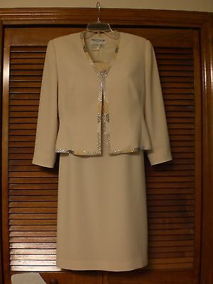 Daymor Couture Special Occasion, Mother of the Bride Dress With Jacket Size 8