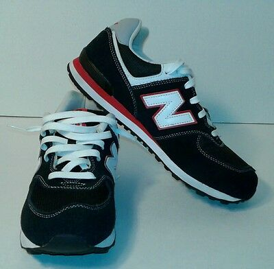 NEW BALANCE 574 red & navy blue athletic sneakers Boys size 7 Mens