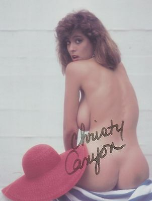 Christy Canyon 3 Porn Star Legend (NUDE) NO PANTIES RARE VINTAGE SIGNED RP 8x10