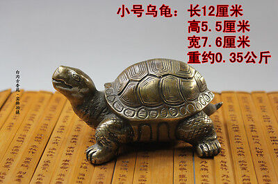 Chinese Copper Brass Carved Animal tortoise sea Turtle Statue