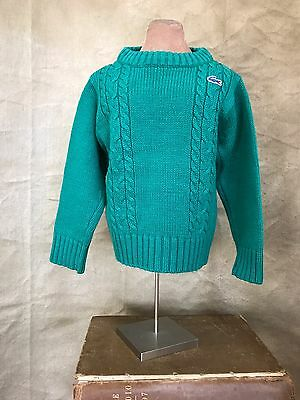 Vintage IZOD LACOSTE SWEATER Toddler Boys PREPPY Green CABLE-KNIT 2/3 3T Hipster